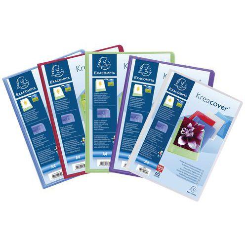 Pasta de proteção para documentos personalizável A4 Kreacover, 120 faces – conjunto de 10