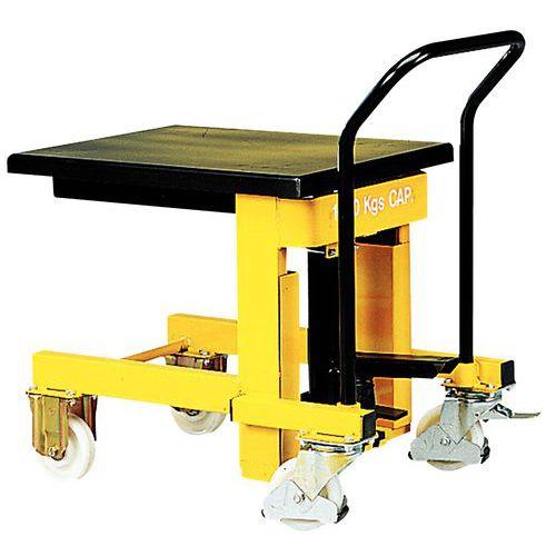 Mesa elevatória móvel hidráulica - Capacidade de carga de 1000 kg