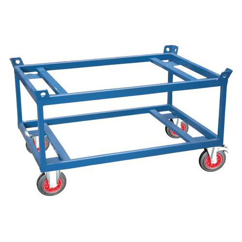 Base rolante alta para cargas pesadas – capacidade de 500 e 1000kg