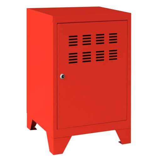 Bloco-gavetas de arrumação com portas rebatíveis