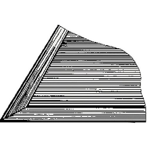 Rebordo para piso gradeado - PVC