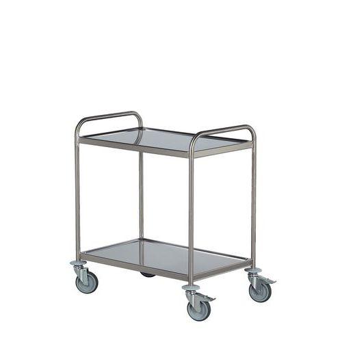 Carro inox - 2 plataformas - Capacidade 120 kg