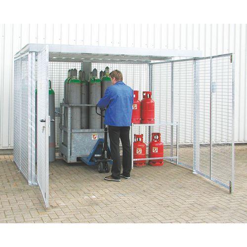 Cabina de armazenamento de botijas de gás - 2 portas