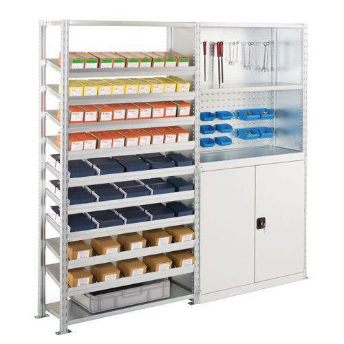 Kit de 2 estantes Advance: elementos de fixação e ferramentas