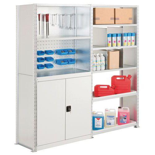 Kit de 2 estantes Advance: produtos de manutenção e ferramentas