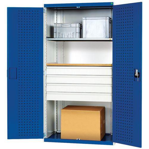 Armário de oficina com gavetas Bott SMF - 4 gavetas
