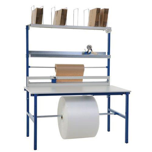 Mesa de embalamento completa