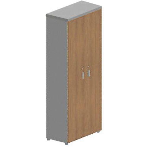 Armário alto com 2 portas em nogueira MOKA