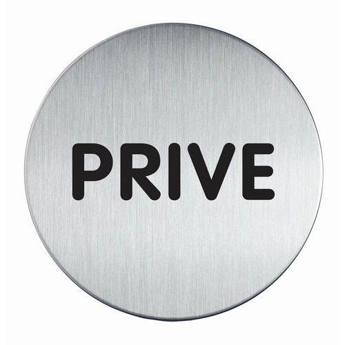 Pictograma redondo com 83mm Ø – privado – Durable