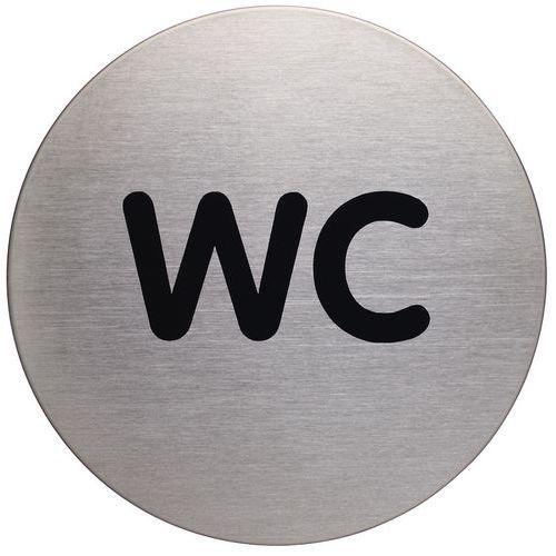 Pictograma redondo com 83mm Ø – WC – Durable
