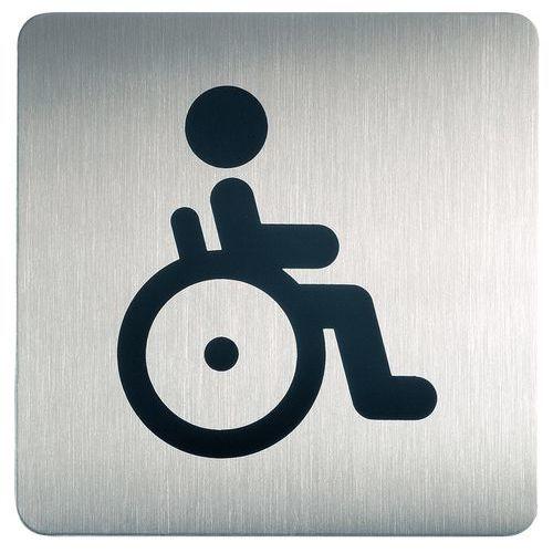 Pictograma quadrado para sanitários – Deficientes