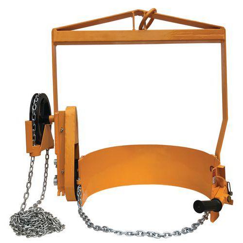 Basculador de bidões com redutor – Capacidade: 360kg – Para diferencial ou ponte rolante