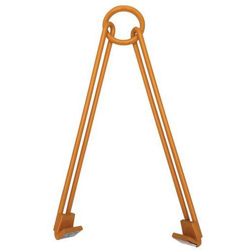 Pinça vertical e horizontal com 2 braços livres para bidões – capacidade de carga de 450kg