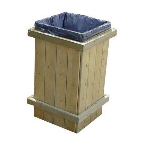 Caixote de lixo em madeira para exterior – 100L