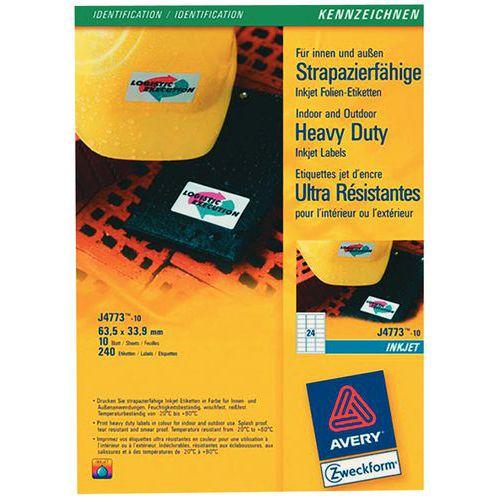 Etiqueta poliéster ultrarresistente - Impressão laser/jato de tinta