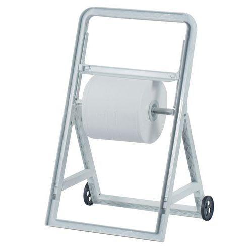 Desenrolador para toalhetes com pé e rodas