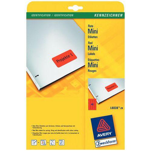 Etiqueta de cor reposicionável Avery – Impressão a laser/jato de tinta e fotocopiadora