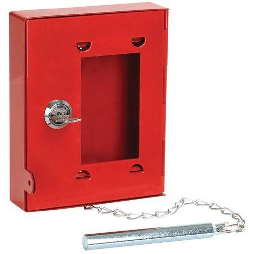 Caixa com chave de emergência