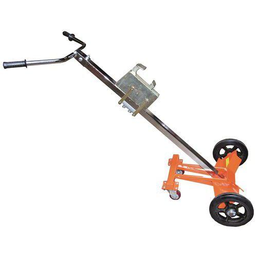 Transportador para bidões com rebordo em metal e plástico – Capacidade: 450kg
