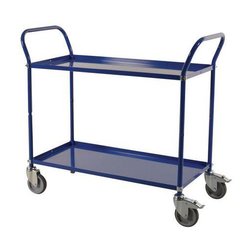 Carro de plataformas metal - 2 plataformas - Capacidade 250 kg