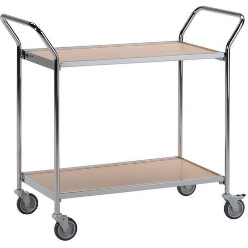 Carro de plataformas madeira - 2 plataformas - Capacidade 150 kg