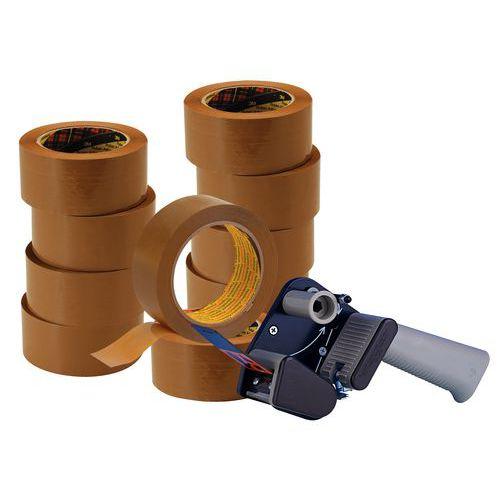 Oferta especial 3M: 10 rolos de fita adesiva Hot Melt 3739 + 1 porta-rolos silencioso H150