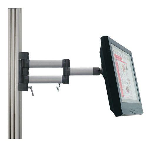 Braço articulado para ecrã plano MA 2 para bancada WB/TPH/Moduline