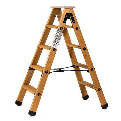 Escadote profissional em madeira Lyonnais de dois planos – Centaure