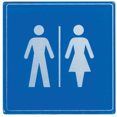 Pictograma em plexiglas quadrado – homens/senhoras