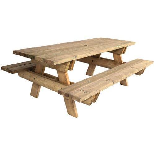 Mesa de piquenique em pinho – Manutan