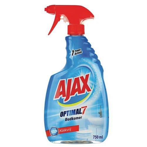 Spray de limpeza anticalcário para casa de banho Ajax Optimal 7 – 750 ml