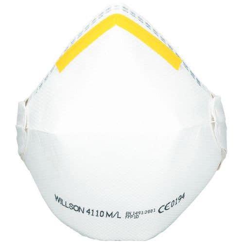 Semimáscara respiratória dobrável de uso único