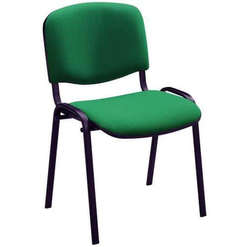 Cadeira para visitas Fancy - Preto e tecido - Manutan