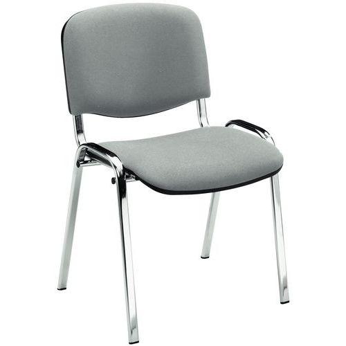 Cadeira para visitas Fancy - Cromado e tecido - Manutan