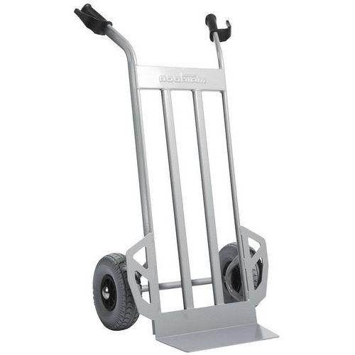 Transportador em aço com aba fixa – rodas antifuros – capacidade de 350kg