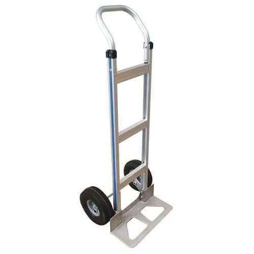 Transportador em alumínio – rodas semipneumáticas – capacidade de carga de 150kg