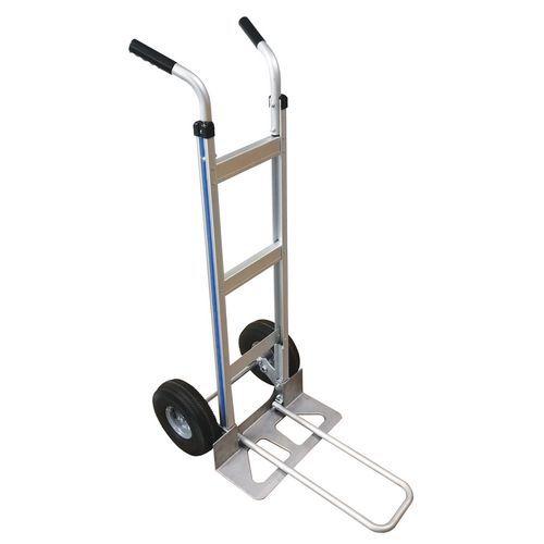 Transportador em alumínio – pala comprida e dobrável – capacidade de 150kg