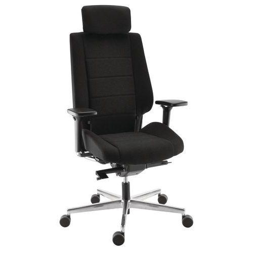 Cadeira ergonómica com apoio de cabeça em couro ou tecido FAME