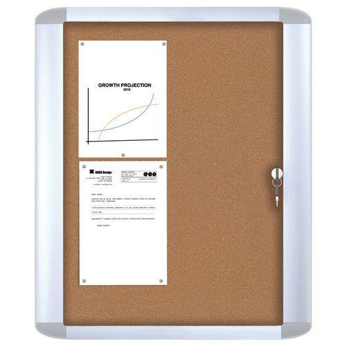 Vitrina de interior Mastervision – Fundo em cortiça – Porta de segurança em vidro