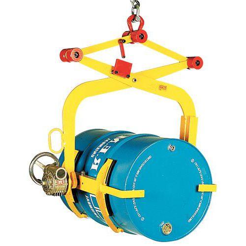 Basculador de bidões com maxilas - Capacidade 300 kg