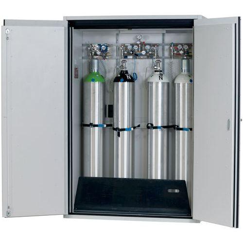 Armário de segurança para armazenamento de botijas de gás