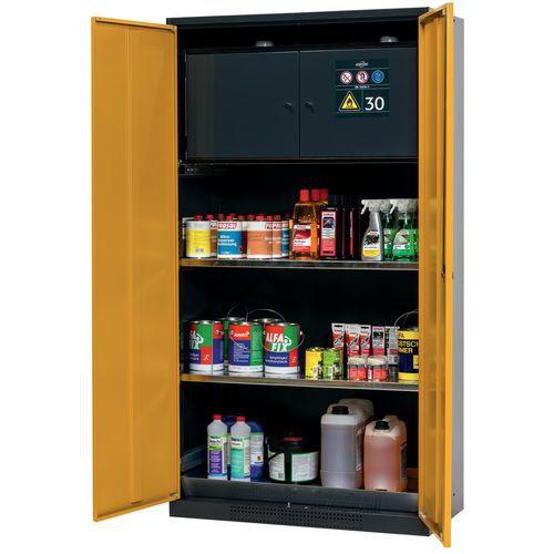 Armário de segurança com caixa para produtos inflamáveis