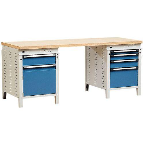 Bancada Function 200 com gavetas e armário