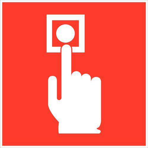 Painel anti-incêndio - Botão de alarme incêndio - Rígido