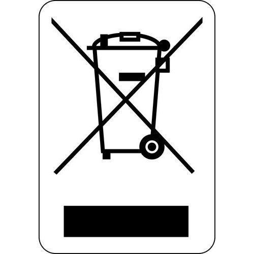 Painel de sinalização para triagem seletiva em rolo - Adesivo