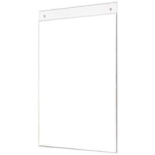 Porta-informações de parede A4 vertical e horizontal