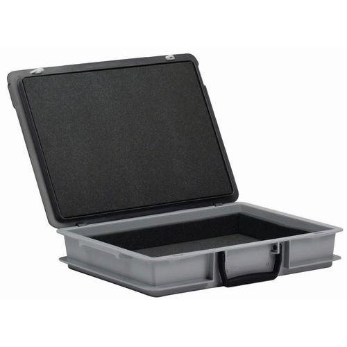 Caixa-maleta Rako com tampa - Interior em espuma - Comprimento de 400 mm