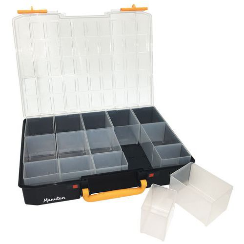 Maleta de arrumação – compartimentos amovíveis – Manutan