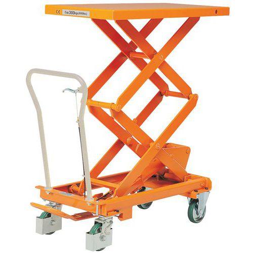 Mesa elevatória móvel - Capacidade de carga de 300 kg
