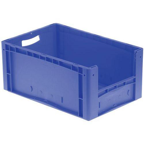 Caixa de norma europeia - Fundo e paredes integrais semiabertura - Comprimento 600 mm - 44 a 85 L